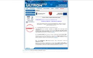 ULTRON – Myjki ultradźwiękowe, myjnie ultradźwiękowe
