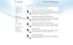 e-book  Warszawa, książki w internecie