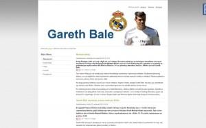 Garetht Bale – witryna przedstawiająca walijskiego piłkarza