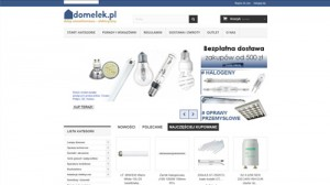 Domelek.pl: internetowy sklep elektryczno – oświetleniowy